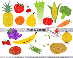 fruits u0026 vegetables clipart veggie pencil and in color fruits