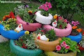 using recycled products for diy garden decoration u2013 my gardening ideas