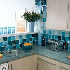 blue and white kitchen wall tiles outofhome
