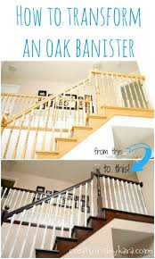 Banister Paint Ideas Diy Staircase Makeover With Stain And Paint