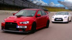 mitsubishi evo nissan gtr vs mitsubishi evo fq 400 fifth gear youtube