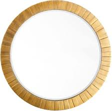 Round Mirrors Gold Leaf Round Mirror Image Home