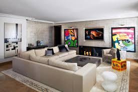 mur deco pierre chambre deco salon tv meuble tv design gris et blanc laque tvs