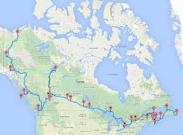 map your usa road trip the ultimate canadian road trip as determined by an algorithm