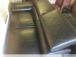 canapé m canapé cuir angle 2 80 x 2 40 m a vendre 2ememain be