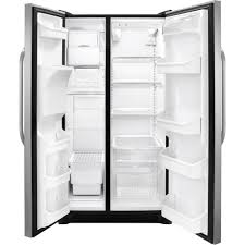 frigidaire glass door fridge amazon com frigidaire ffss2614qs 36