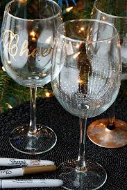 Wine Glass Decorating Ideas Belle Vie Diy Wine Glasses Using Sharpies Belle Vie