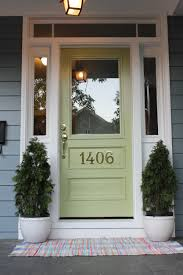 boothbay blue hardie plank siding and great green front door by