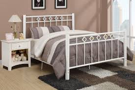 Stylish Wrought Iron Bed Frame King Regarding White Rod Designs 19