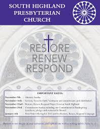 2015 thanksgiving dates south highland presbyterian church brochures