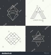 set vector hipster logo badge monogram stock vector 256668400