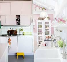 White And Blue Kitchen Cabinets Divine Small Pink Kitchen Come With White Kitchen Cabinets And