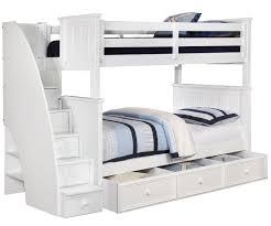 brandon full over full bunk bed with stairs in white allen house