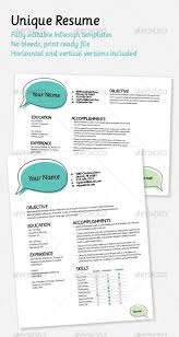 Unique Resumes Templates 33 Best Creative Cvs Images On Pinterest Resume Ideas Resume Cv