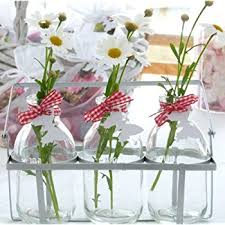 Small Glass Vase Vintage Style Mini Glass Vase Bottles Amazon Co Uk Kitchen U0026 Home