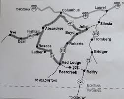 Red Lodge Montana Map by Teri U0027s World July 2014