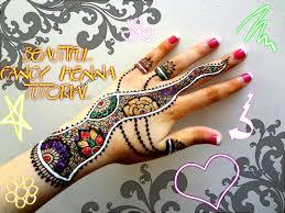 easy simple fancy glittery white henna combo mehndi designs for