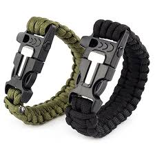 survival bracelet with whistle images Survival paracord bracelet with fire starter whistle and knife jpg