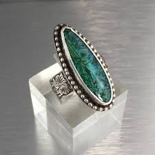 long silver rings images Gorgeous blue monarch opal ring teardrop shape with wide sterling jpg