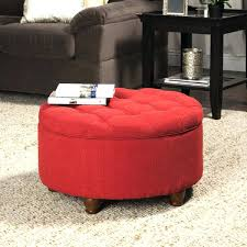 ottoman red leather storage ottoman bench round red leather