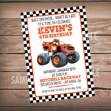 monster truck show atlanta ga blaze birthday party invitation blaze and the monster machines