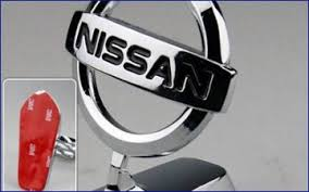 nissan chrome logo ornament no drill