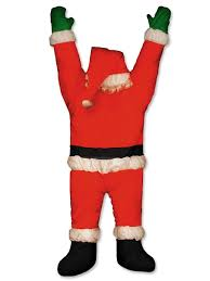 santa hanging from door guttering outdoor decoration 1 5m