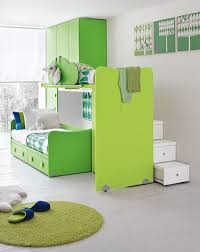 Green Boy Bedroom Ideas Functional Bunk Beds Sliding System In Green Theme Suites Ideas