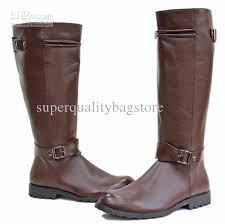 s boots knee high brown pointed toe s leather shoes knee high boots black buckles
