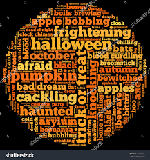 free halloween background for word halloween word cloud shape circle on stock illustration 160379165
