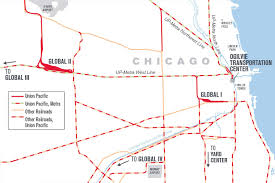 Blue Line Chicago Map by Up Chicago Balancing Freight And Commuters At The World U0027s