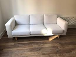 White Laminate Flooring Ikea Ikea Norsborg 3 Seater Sofa Finnsta White In Burwell
