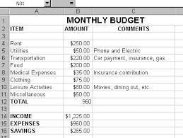 Monthly Expense Sheet Template Monthly Budget Exle Thebridgesummit Co