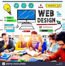 web design development style ideas interface concept stock photo