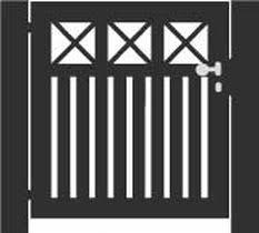 allure aluminum worthington 4 ft x 6 ft black aluminum 3 rail