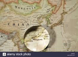 Continent World Map by Close Up Of Asian Continent World Map With Crystal Ball Stock