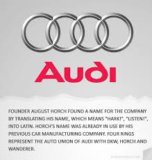 audi car company name how companies got their names cars we and an