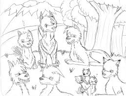 no ordinary wolf pack sketch by blue radiance on deviantart