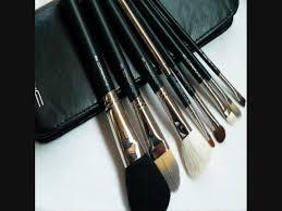 mac professional make up 8 pcs brush set w leather pouch youtube