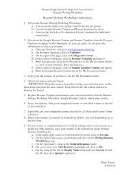 cover letter free resume templates for high students free