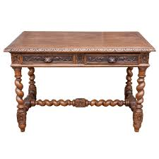 Sofa Tables With Drawers by 19th Century Louis Xiii Hand Carved Desk Or Writing Table With Two