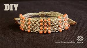 bracelet knots youtube images Easy square knot bracelet with beaded lines diy jpg