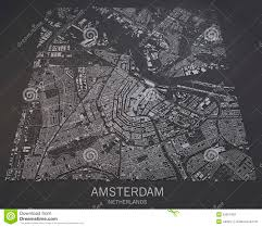 Satellite View Maps Map Of Amsterdam Satellite View Map In Negative Netherlands
