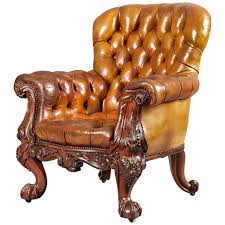 Tub Leather Chairs Gentleman U0027s Leather Library Chair Firmly Attributed To Gillows Of