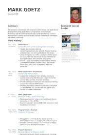 Resume Examples For Servers by Webmaster Resume Samples Visualcv Resume Samples Database