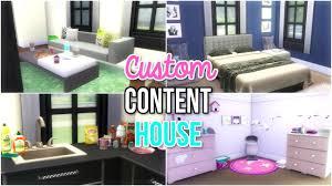 Wvu Home Decor The Sims 4 Custom Content House Build Youtube