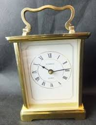 h samuel carriage clock quartz white brass ebay