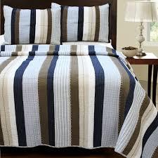navy blue brown striped teen boy bedding twin xl full queen king