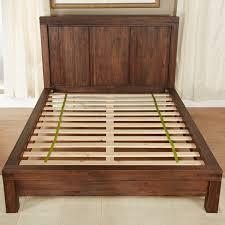 Wood Panel Bed Frame by Meadow Platform Bed Brick Brown Hayneedle