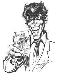 neal adams joker and batman sketch in john francis u0027s playing